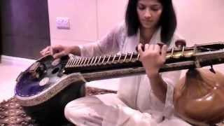 VAISHNAVA JANA TO - Veena by Meera Sharma - Karaoke Instrumental - HD