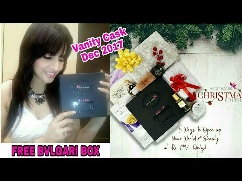 Vanity Cask Dec 2017 |FREE BVLGARI BOX |Free Luxury Product Code|Christmas Edition|Unboxing & Review
