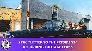 2Pac Letter 2 The President Studio Session Footage Leaks | 2020