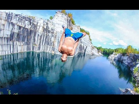 Vermont Quarry Cliff Jumping
