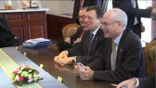 President B. Aquino III meeting with President J. Barroso, European Council President H. Van Rompuy