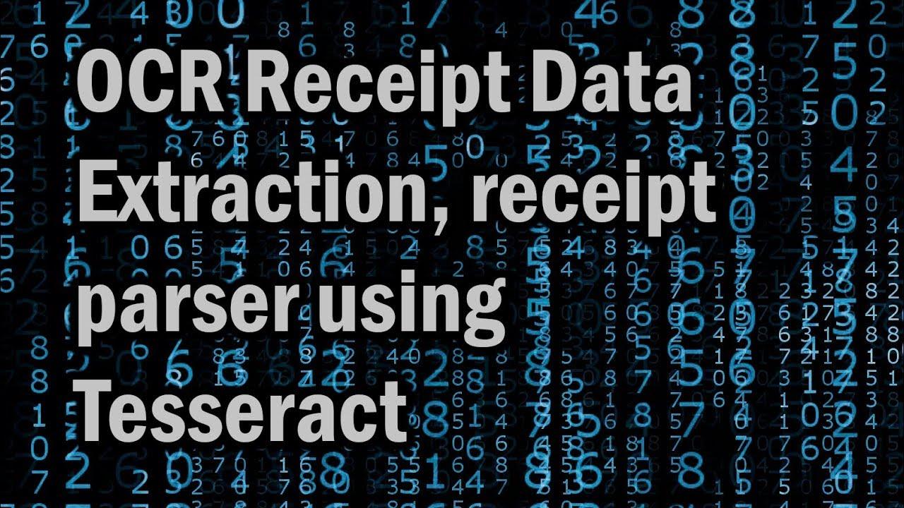 OCR Receipt Data Extraction, receipt parser using Tesseract