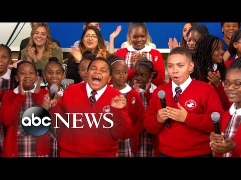 Download Youtube: Middle school choir whose 'Rise Up' performance went viral gets surprise from Andra Day