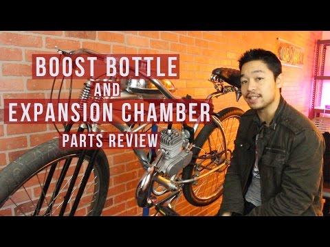 Sthus Intake Manifold/&Power Boost Bottle Fits 66//80cc 2 Stroke Motorized Bike Engine
