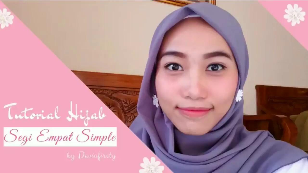 Inspirasi Model Hijab Cara Pakai Anting Hijab Segiempat