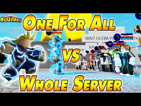 One For All VS The Whole Server  Boku No Roblox Remastered