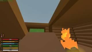 Как сделать лестницу, пролёт, пандус в Unturned Как сделать люк на крышу, костёр