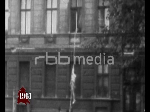 Escaping on Bernauer Strasse Berlin - August 1961