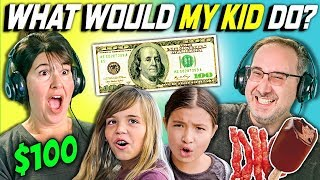 can parents guess what their kid does with 100 dollars? ep 2