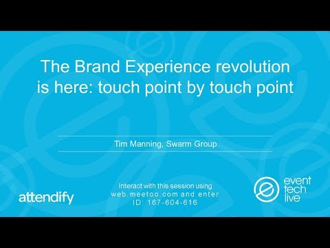 ETL2017 - The Brand Experience revolution is here: touch point by touch point