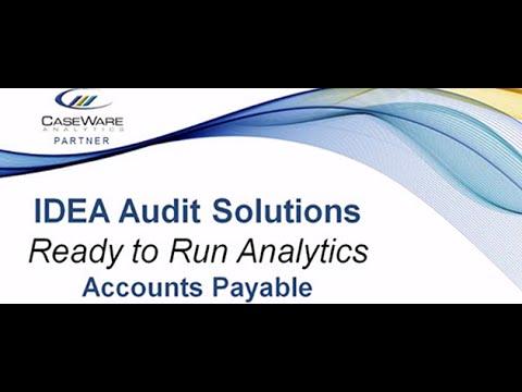 Accounts Payable Controls Audit Solution