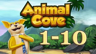 Animal Cove level 1 - 10 Solve Puzzles & Customize your Island