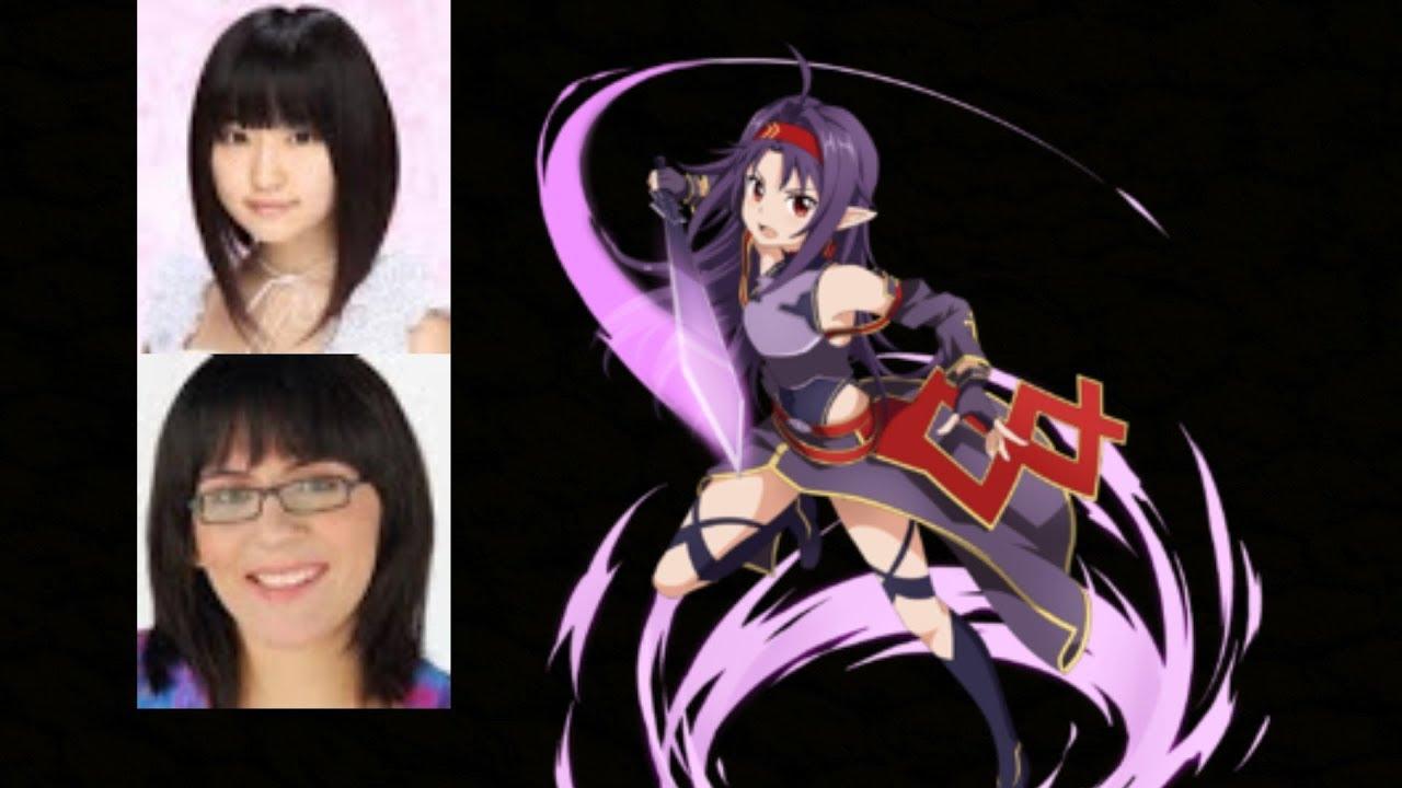 anime voice comparison yuuki konno sword art online youtube