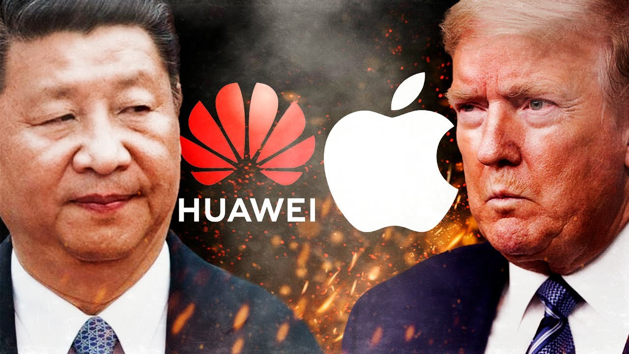 Apple y Huawei VÍCTIMAS de la guerra entre Donald Trump y China