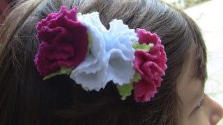 Cravos de feltro passo a passo- – fabric flowers