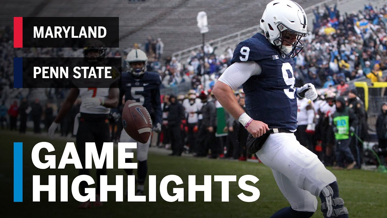 Penn State Football Highlights Maryland Terrapins At Penn State Nittany Lions Big Ten Football