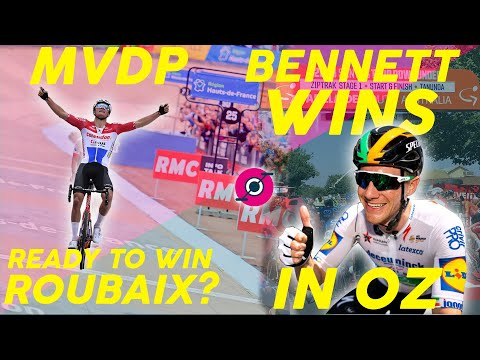 CAN MATHIEU VAN DER POEL WIN ROUBAIX? & SAM BENNETT WINS TDU STAGE 1!!!