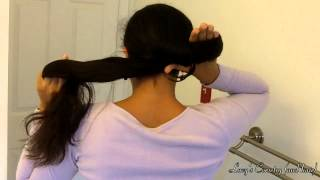 10 Second No Pin Bun: Nautilus For Very Long Hair | Lucy's Corsetry