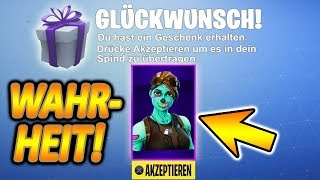 THE TRUTH ABOUT SKINS VERSCHENKEN FUNCTION! | Fortnite Battle Royale
