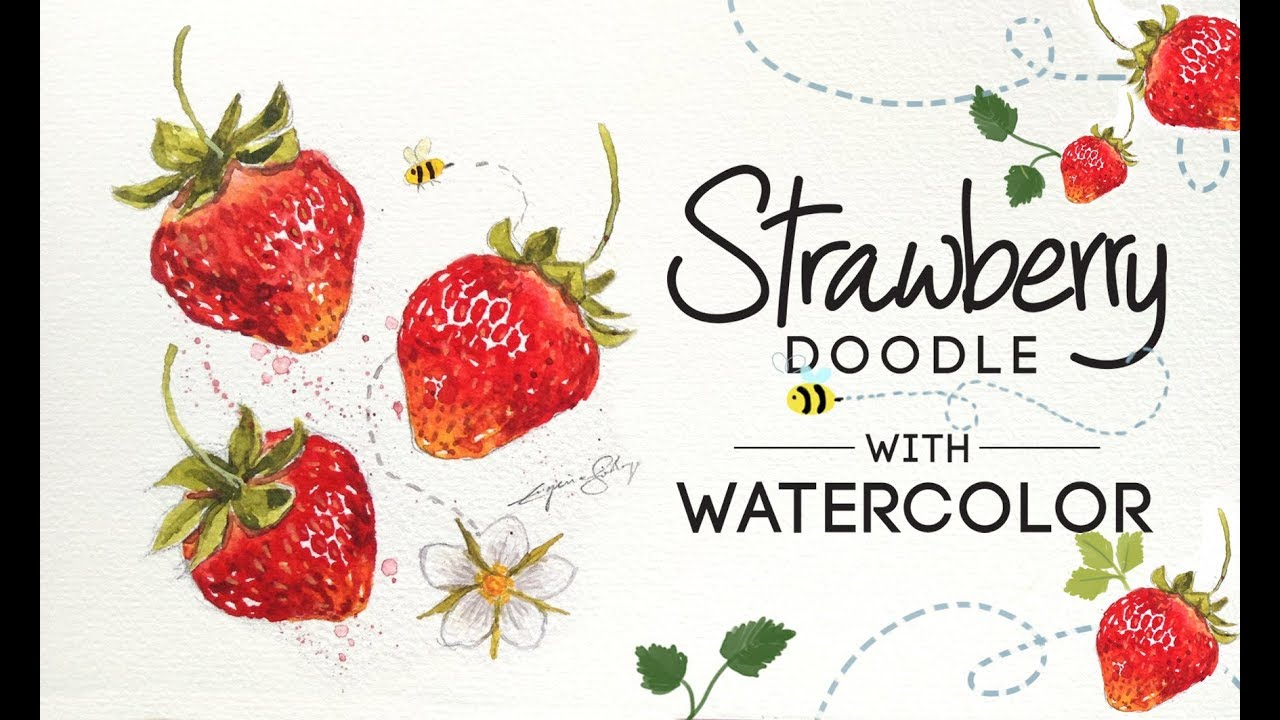 Watercolor Tutorial: Strawberry Doodle // New Skillshare Class