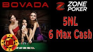 Bovada Poker - 5NL Zone Poker EP 6 - Texas Holdem Poker Strategy - Cash Game 2013