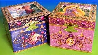 Caixinha de Música Surpresa Princesas Anna Elsa Disney Frozen Aventura Congelante Rapunzel Portugues
