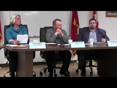 Marine City Commission Meeting, Thurs., Nov. 2, 2017