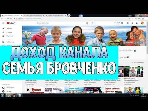 Доход канала Семья Бровченко