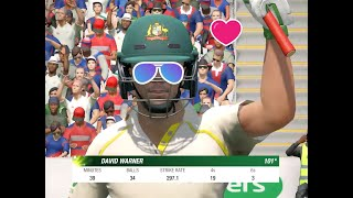 Cricket 19 - Ashes - Playing as David Warner (100*) - Century