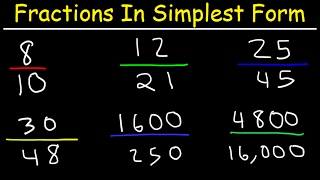 Reducing Fractions to Simplest Form
