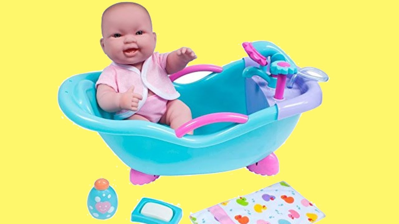 Lots To Love Doll In Bathtub Baby Doll Bath With Real