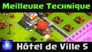 Clash of Clans - Superbe stratégie d'attaque HDV 5 aux Ballons!