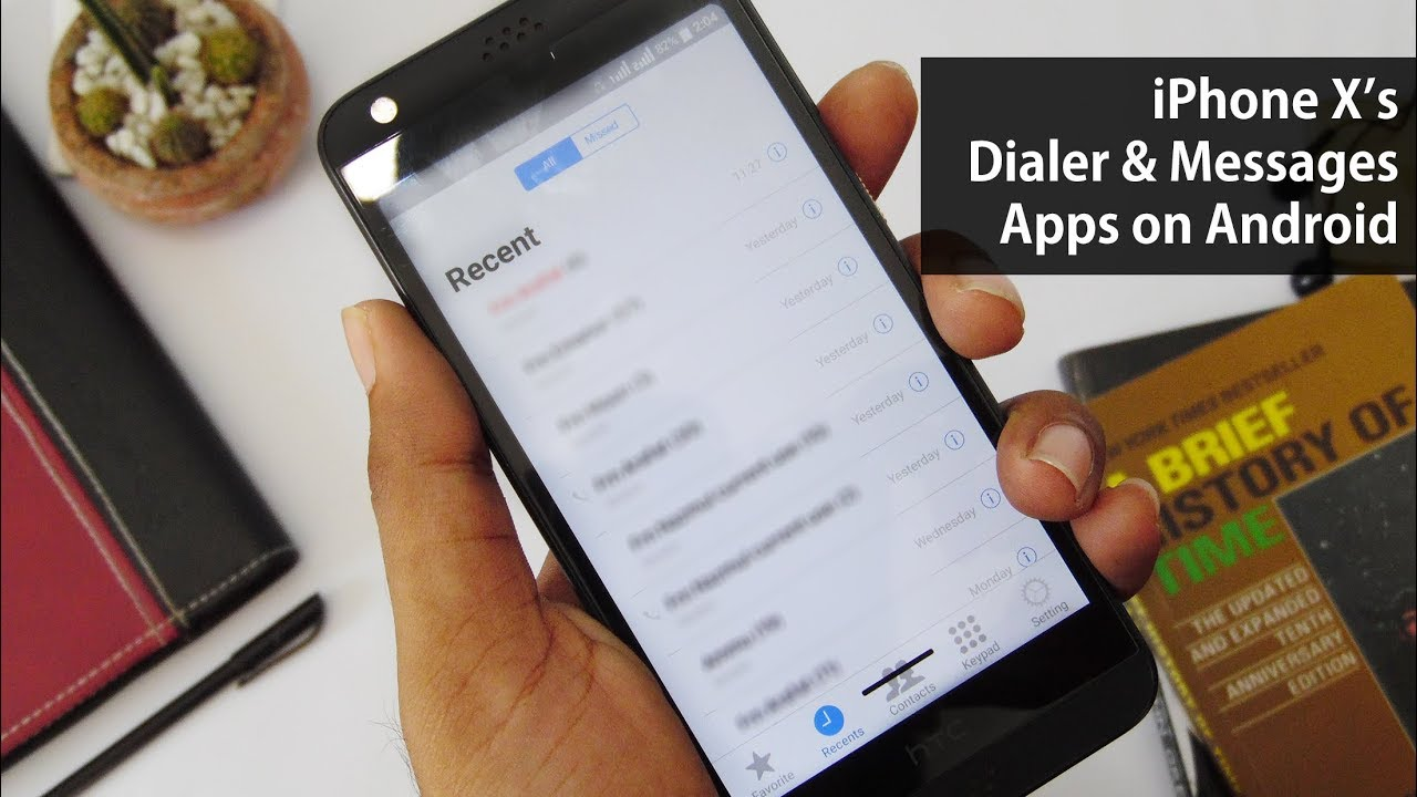 Get iPhone Xs Dialer & Messages App on Any Android Phone