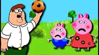 Мультики Свинка  Петта и Джош разбили окно мячом у соседа  Мультфильмы для детей на русском