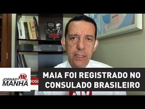 Maia nasceu no Chile, mas foi registrado no Consulado brasileiro, o que o torna: brasileiro