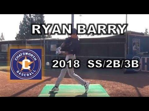 2018 Ryan Barry SS2B3B Baseball Recruit Skills