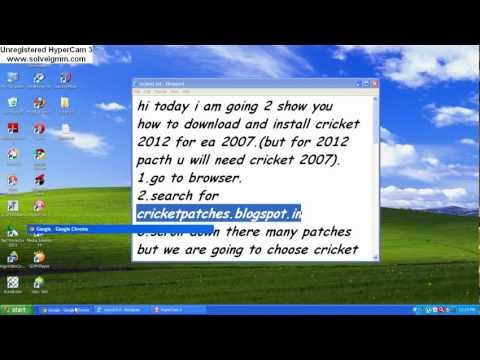 how to download & install cricket 2012