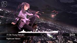 Repeat youtube video Nightcore - If I Die Young (Female)