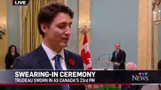 Justin Trudeau Swearing-in as Prime Minister of Canada