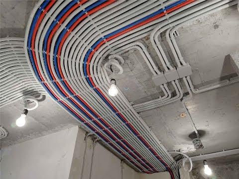 Электропроводка в квартире площадью 110 м2, ТОП монтаж в 2018г. Тюмень