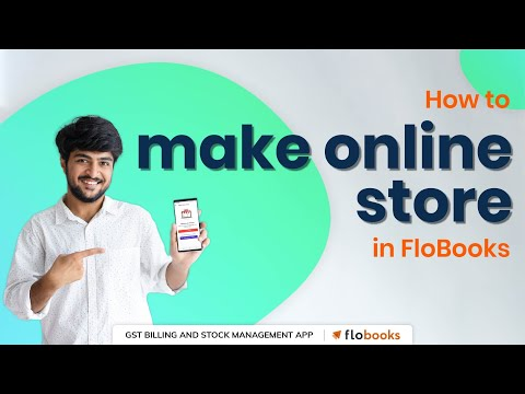 How to make Online Store in FloBooks App - Easy Mobile Billing (Hindi)