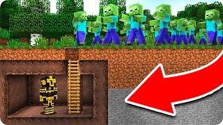 BASE SECRETA VS APOCALIPSIS ZOMBIE EN MINECRAFT