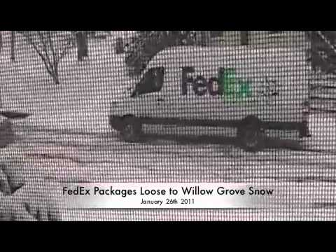 FedEx Packages Loose to Willow Grove Snow 1-26-2011