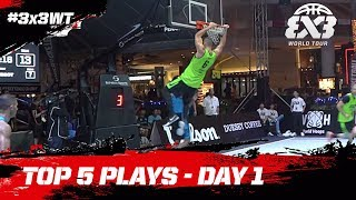 Top 5 Plays | Day One | FIBA 3x3 World Tour 2018 - Penang Masters