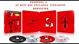 Deadpool 2 (2018) 4K Ultra HD Blu-ray Best Buy Exclusive SteelBook Unboxing
