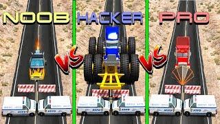 Beamng drive - NOOB vs PRO vs HACKER crashes (cars crashes)