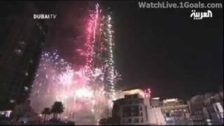 Burj Khalifa World Tallest Building Fantastic Fireworks Show 2011 New Year Eve - Welcome 2012