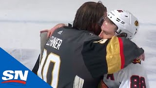 Vegas Golden Knights And Chicago Blackhawks Shake Hands After Tough Series