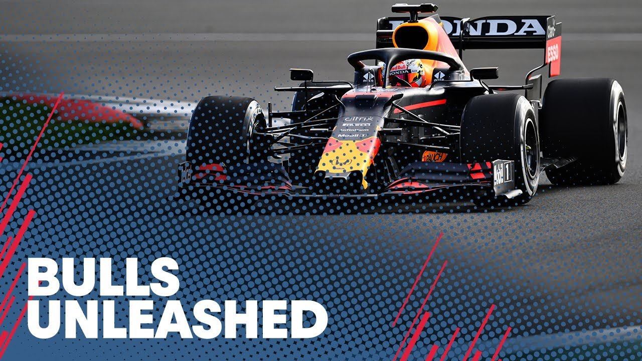 Max Verstappen and Sergio Perez drive the RB16B at Silverstone