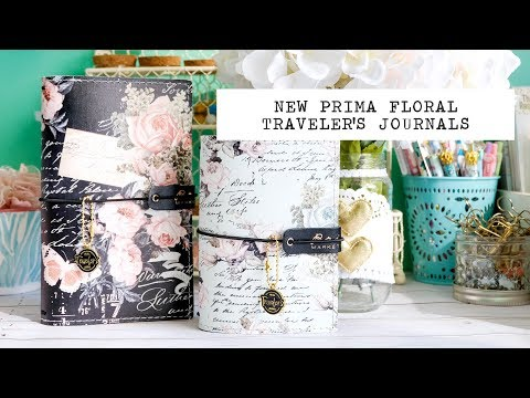 new prima floral traveler's journals + paper collections haul